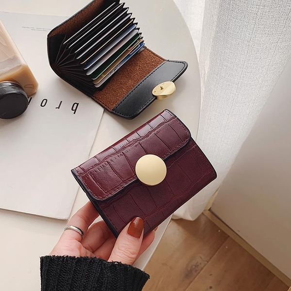 小卡包女2020新款潮韓版短款搭扣風琴小錢夾超薄女式小巧信用卡套 台北日光