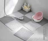 浴室防滑墊 拼接方形家用衛生間隔水地墊 淋浴房衛浴腳墊igo 青山市集