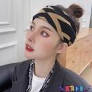針織髮帶 韓國髮帶女網紅字母復古港風包頭巾頭套針織寬邊秋冬外出髮箍 寶貝計畫 618狂歡
