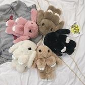 兔子包包毛絨小動物斜挎包兒童女孩日系迷你雙肩可愛女斜挎網紅小 【Ifashion·全店免運】