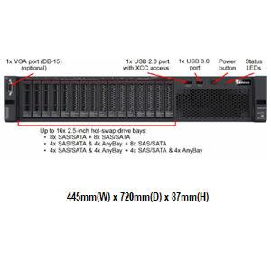 Lenovo SR650 7X06A04XCN 2U機架式伺服器【Intel Xeon Silver 4110 8C / 16GB / Raid 930-8i + 2G Flash】(2.5吋)