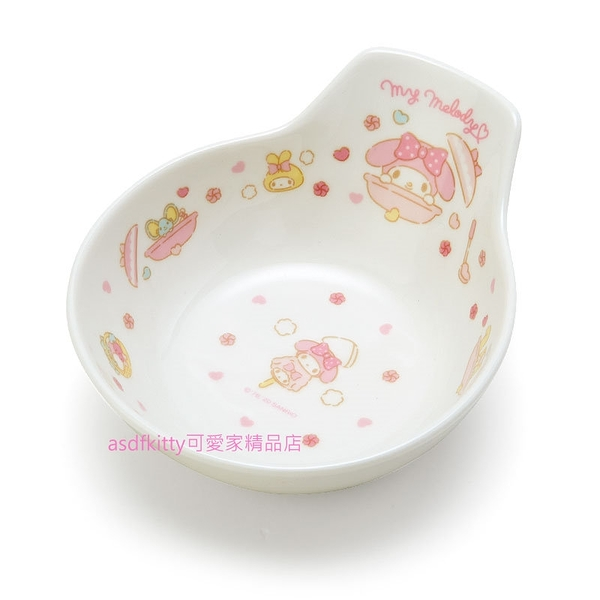 asdfkitty*美樂蒂有把陶瓷碗/飯碗/湯碗/點心碗-日本正版商品