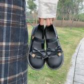 娃娃鞋 ins日系春季新款學院風小清新單鞋洛麗塔蝴蝶結扣帶JK軟妹小皮鞋-10週年慶