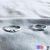 【貝貝】銀戒指 純銀 戒指 一對 日式 輕奢 對戒