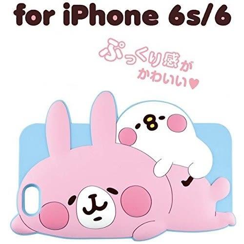 尼德斯Nydus~* 日本正版 卡娜赫拉的小動物 可愛萬物論 粉紅兔兔 矽膠軟殼手機殼 4.7吋 iPhone 6/6S