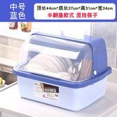 裝碗筷收納盒 放碗箱 瀝水碗架 廚房家用帶蓋碗盆 碗碟置物架 塑料碗櫃 送洗碗佈