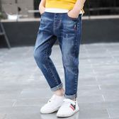 牛仔褲 兒童裝男童牛仔褲中大童春秋款單褲【小天使】