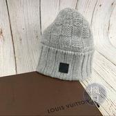 BRAND楓月 LV M74404 灰色 毛線帽