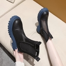 馬丁靴 短煙筒馬丁靴女夏季薄款透氣網紗鏤空涼靴子2021年新款厚底切爾西 美物