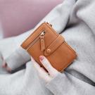短皮夾梨花娃娃女士錢包女短款新款韓版學生折疊多功能手拿包小錢夾 艾維朵