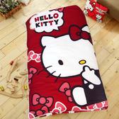 HO KANG 三麗鷗授權 冬夏鋪棉兩用兒童睡袋加大款 -KITTY經典甜美( 紅)