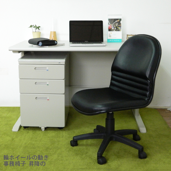 桌椅組【時尚屋】CD140HE-34灰色辦公桌櫃椅組Y700-8+Y702-19+FG5-HE-34/DIY組裝/台灣製/電腦桌