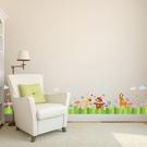 【半島良品】壁貼 DIY創意無痕 牆貼 貼紙-  小熊柵欄 50x70_XH7218