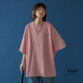 短袖T恤女設計感小眾半袖寬鬆韓版五分【聚物優品】