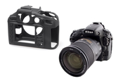【】easyCover 金鐘套 Nikon D800 D800E 適用 果凍 矽膠 防塵 保護套 (黑色) 公司貨