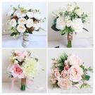 捧花婚紗影樓攝影拍照道具新娘手捧花結婚新款粉紅白仿真韓式婚禮花束 新年優惠