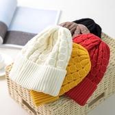 毛帽-純色捲邊時尚百搭男女針織帽6色73ug26[巴黎精品】