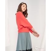 CANTWO優雅坑條飛鼠袖修身針織上衣-四色-紫色-紅色