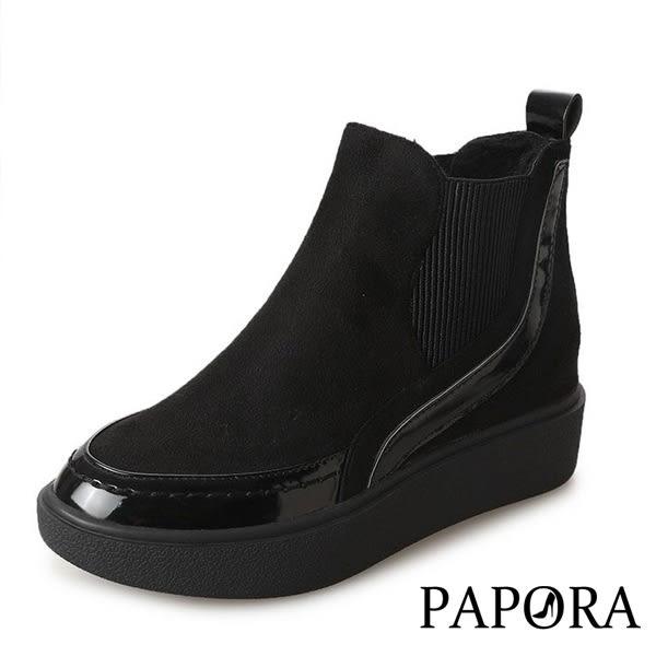靴子.時尚舒適絨毛內裡短靴【KY7538】黑(偏小)