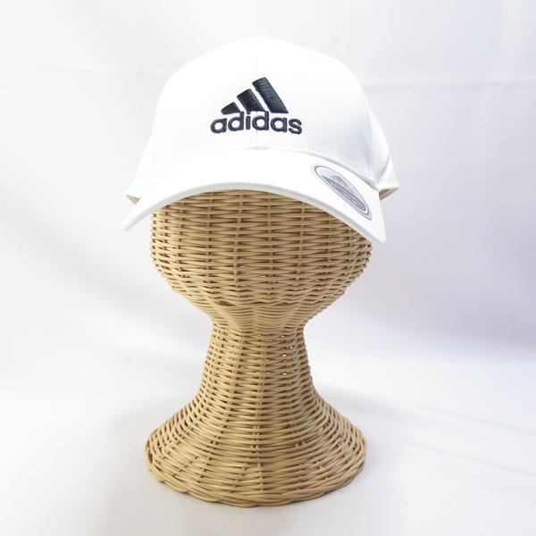 ADIDAS BBALL CAP COT 老帽 棒球帽 青少年/成人尺寸 FK0890 白 後可調【iSport愛運動】