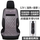 冬季車載汽車座椅電加熱坐墊12V24V貨車用電熱短毛絨按摩制熱座墊  ATF  極有家