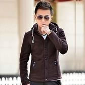 毛呢外套-修身顯瘦韓版紳士燕尾短款男大衣3色72e46[巴黎精品】