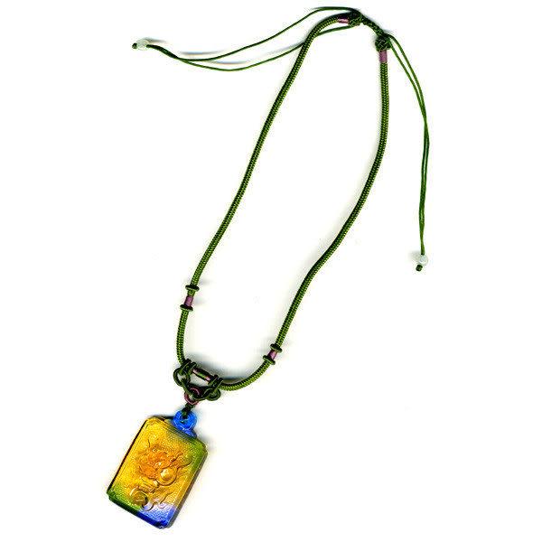 鹿港窯~居家開運水晶琉璃項鍊~龍首 附精美包裝◆免運費送到家◆