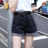 【新年鉅惠】高腰牛仔短褲女寬鬆韓版大碼A字闊腿