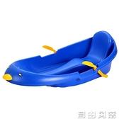 加厚耐磨兒童滑雪板單板雙人滑草板滑沙板成人雪爬犁小孩雪橇車圈  自由角落