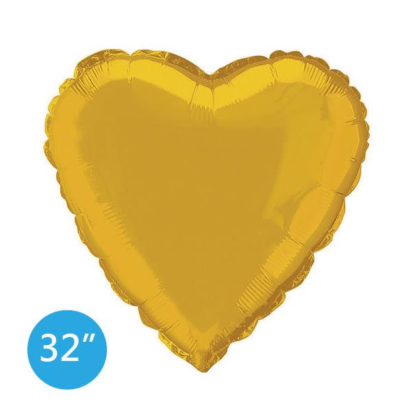 32吋愛心鋁箔氣球(不含氣)-璀璨金