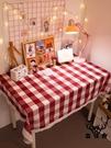 桌布防水防油書桌桌布 寢室北歐風梳妝臺可愛桌墊【古怪舍】
