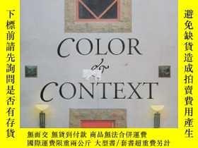 二手書博民逛書店【精裝英文原版】Color罕見& Context: The Architecture of Perry Dean