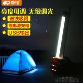 露營燈 LED露營燈帳篷燈馬燈應急燈充電野營戶外家用停電照明磁鐵燈 城市科技