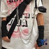 韓國ins復古百搭潮人配飾金屬潮流褲鏈包鏈【古怪舍】