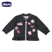 chicco-To Be BG-印圖荷葉下襬外套