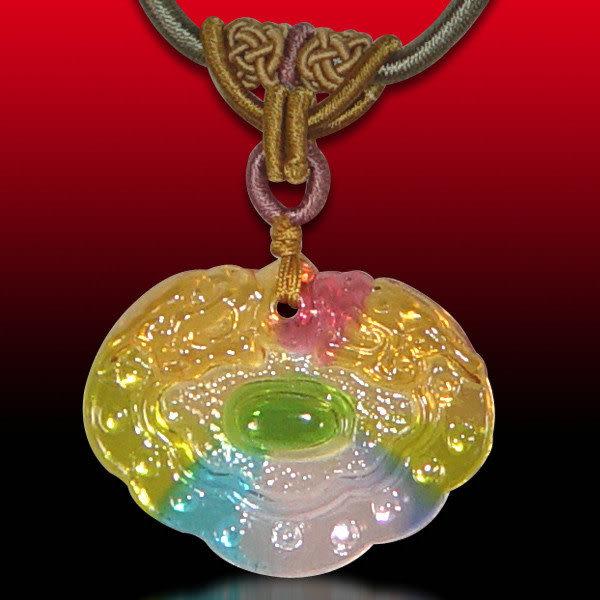 鹿港窯~居家開運水晶琉璃項鍊~錢隆來◆附精美包裝◆免運費送到家