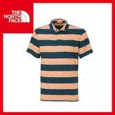 【The North Face 男 風格POLO衫《深藍綠》】CFX7/休閒衫/舒適/短袖上衣