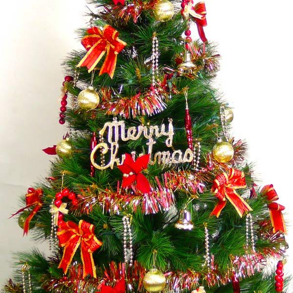 【摩達客】台灣製10呎/10尺 (300cm)特級綠松針葉聖誕樹 (+紅金色系配件組)(不含燈)
