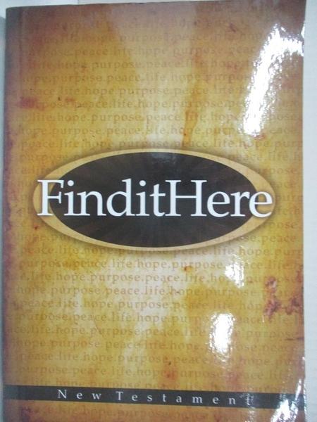 【書寶二手書T1/宗教_B17】Find It Here