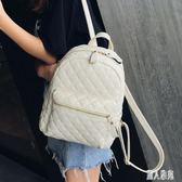 後背包•雙肩包女2019新款韓版小清新軟皮質時尚百搭大容量背包CC4129『麗人雅苑』