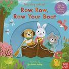 【幼兒操作書/附線上歌曲】ROW ROW ROW YOUR BOAT /歌謠拉拉書《主題:歌謠.操作》