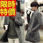 毛呢外套休閒簡約-創意時髦羊毛立領男大衣1色61x3[巴黎精品]