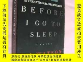 二手書博民逛書店Before罕見I go to sleepY146810 S J