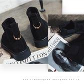 短靴  短靴女秋冬新款韓版平底馬丁靴英倫風磨砂女靴子學生女鞋