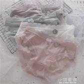 4條無痕網紗內褲女低腰簡約純色半透明性感薄款少女學生三角褲頭『小淇嚴選』