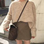 梨卡 - 秋冬氣質甜美純色寬鬆中長版舒適軟綿綿超舒服保暖毛衣針織衫上衣BR137