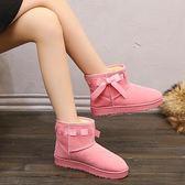 雪靴 冬季新款雪地靴女加厚蝴蝶結防滑短靴子