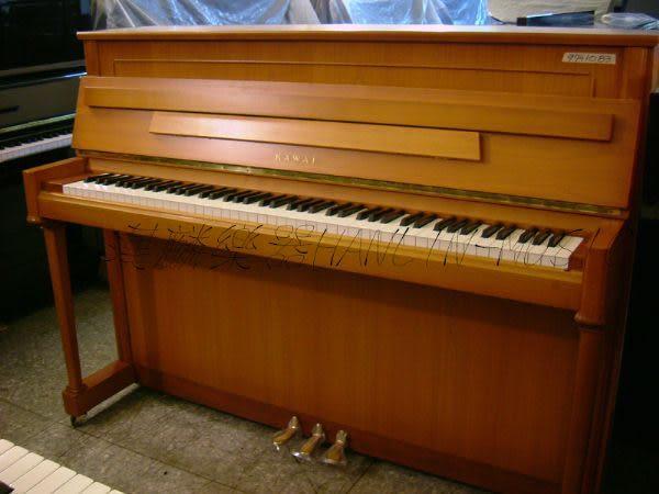 【HLIN漢麟樂器】-日本原裝kawai河合123號直立式中古二手鋼琴-原木-亮黑-豪華26