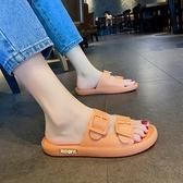 涼拖鞋女夏外穿2021新款時尚百搭網紅果凍底防滑軟底孕婦一字拖鞋 【夏日新品】