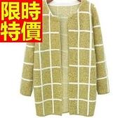 長版針織外套 -品味超人氣質感純色率性清新女毛衣外套3色59v7[巴黎精品]